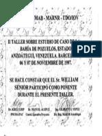 II TALLER ESTUDIO DE CASO BAHÍA DE POZUELOS