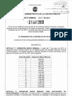 decreto 1002 del 21 de mayo de 2013- salarios 2277
