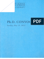 Gsas Phd Convocation Program 2013 Tissue Engineering Proteins