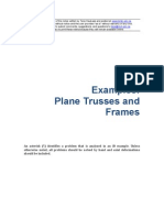 Plane Trusses and Frames Examples
