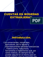 Cuentas en Monedas Extranjeras.