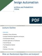 Randomized Algorithms and Probabilistic Analysis of Algorithms