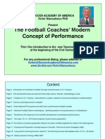 Football Coaches Modern Concept of Performance