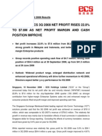 ECS Holdings 3Q 2008 Results PressRelease