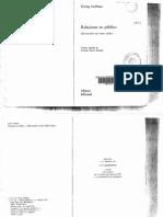 Goffman Relaciones en Pc3bablico Microestudios Del Orden Pc3bablico Bb