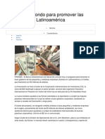 BID crea fondo para promover las Pymes en Latinoamérica