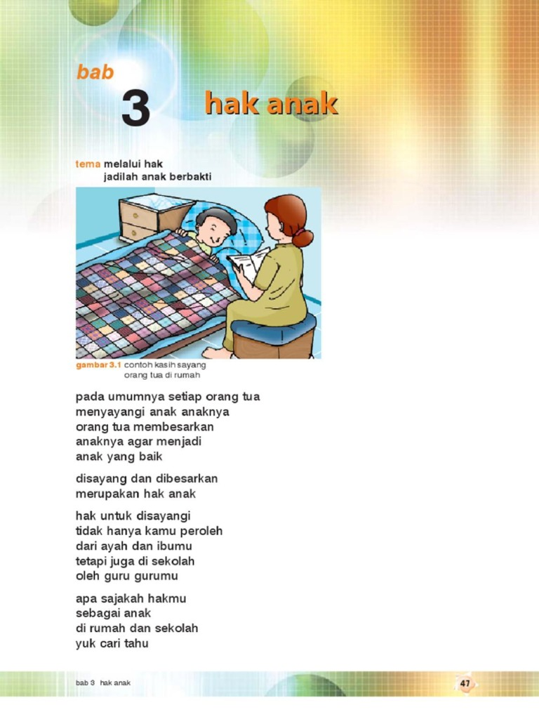 3 Hak Anak