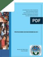PROYECCIONES SOCIOECONOMICAS 2013 HECA