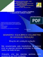 seminário equilíbrio e volumetria de redox