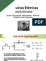 Aula Motores Síncronos - Circuito Equivalente, Regulação, etc
