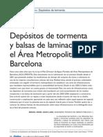 Depósitos de tormenta y balsas de laminación en el Área Metropolitana de Barcelona