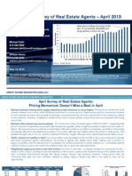 Credit Suisse Monthly Survey of Real Estate Agents Results April 2013