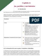 Capitulo 04 IdeologÝas, partidos y movimientos