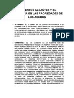 ELEMENTOS ALEANTES Y SU INFLUENCIA EN LAS PROPIEDADES DE LOS ACEROS.doc