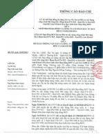 Thông cáo báo chí 23.05.2013