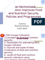 How Harmonized Information Improves Food and Nutrition Security Policies and Programmes