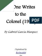 No One Writes to the Colonel - Gabriel Garcia Marquez