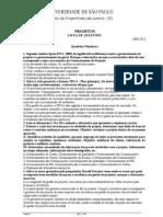 LISTA DE QUESTÕES Projetos-P1 Segunda