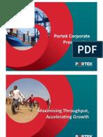 Portek Corporate Presentation 2012