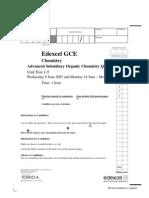 CAPE Chemistry Study Paper 001α