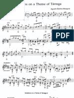 Agustin Barrios - Variations on a Theme of Tarrega