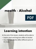 Health - Alcohol