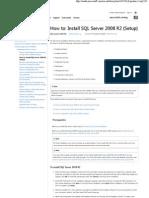 How to# Install SQL Server 2008 R2 (Setup)