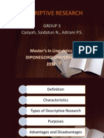 Descriptive Research Grup 3