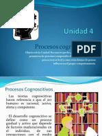 Unidad 4 Procesos Cognoscitivos