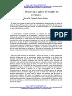 084 Registros Historicos Sobre El Hablar en Lenguas