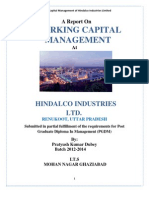 working capital management 2012 of HINDALCO INDUSTRIES LTD.