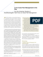 Acute Pain Management in the Perioperative Setting