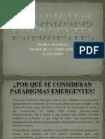 Diapositivas Principales Puntos de Los Paradigmas Emergentes
