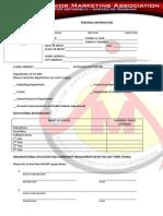 XU-JMA Application Form