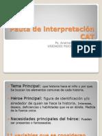 Pauta de interpretación CAT