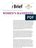Sri Lanka Women's Manifesto