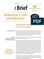 Inclusion of Women for Better Local Government