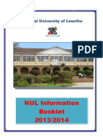 01 NUL Information Booklet 2013