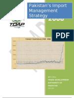 Pakistans Import Management Strategy