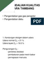 Pengendalian Kualitas Udara Tambang
