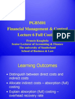 Lecture 6 - Full Costing