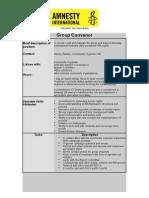 Position Description - Group Convenor