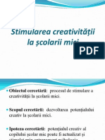 Stimularea creativității la școlarii mici