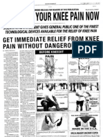 Alleviate Your Knee Pain Now...