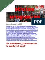 Noticias Uruguayas Jueves 23 de Mayo Del 2013