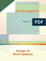 Design of Work System