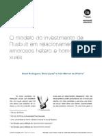 In-Mind_Português, 2011, Vol.2, Nº.1-2, Rodrigues, Lopes e Oliveira, Modelo do investimento de Rusbult em relacionamentos amorosos