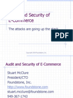 AUDIT AND SECURITY OF E-COMMERCE