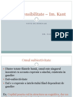 Despre Sensibilitate - Kant