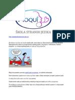 Srpski Jezik Za Strance-kurs